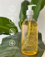 Jabón de manos desinfectante en botella rellenable Mahána